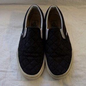 VANS Felt Quilted sneaker, women's, W7.5/M6, Gray